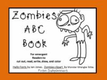 Zombies ABC Book For Emergent Readers