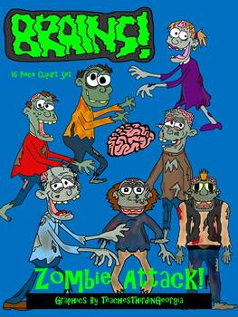 Zombies Attack! 18 Piece Clipart Collection