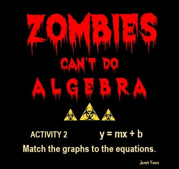 Zombies Can't Do Algebra, Activity 2:  Match Graphs to Slope-Intercept Equations