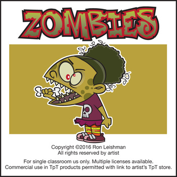 Zombies Cartoon Clipart