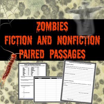 Zombies: Fiction vs Nonfiction Paired Passages