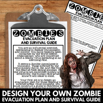Halloween Writing and Art Activities - Zombies