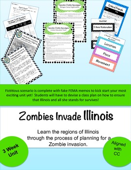 Zombies Invade Illinois: Learn Geography through disaster planning