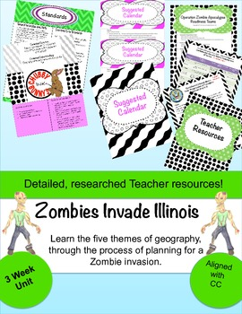 Zombies Invade Illinois: Learn Geography through disaster