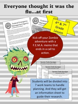 Zombies Invade Texas Geography 4th and 7th grade (PBL)