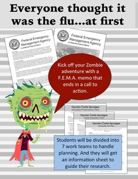 Zombies Invade the US: Learn Geography through disaster pl