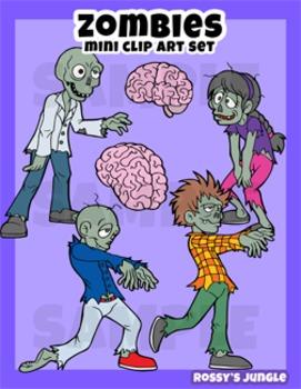 Zombies Mini Clip art set