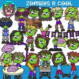 Zombies R Cool Clipart {Scrappin Doodles Clipart}