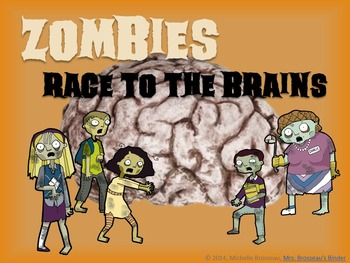Zombies Race to the Brains: Halloween PowerPoint Review Game for ANY Subject!