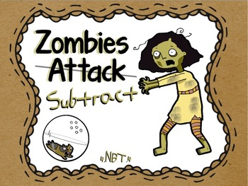 """Subtraction Word Problems """"Zombie Themed"""" (Halloween Math)"""