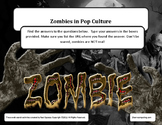 Zombies in Pop Culture Online Web Search - Fillable