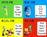 Zone of Regulation Posters - Inside Out Theme