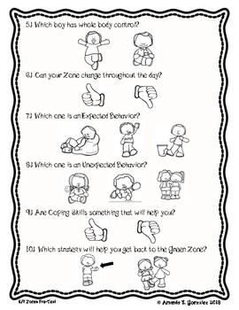 Zones Assessment-Kindergarten/First Grade