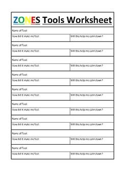 """Zones """"Tools"""" Worksheet"""