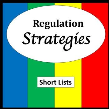 Zones of Regulation Activities {Emotional Regulation Strategies} {Visuals}