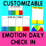 Emotional Self Regulation: check In Poster pack - customizable