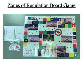 Zones of Regulation Board Game: Inside Out version