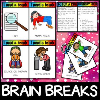Self Regulation Tools - Brain Breaks Sensory Breaks Calming Strategies