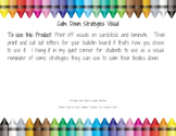 Calm Down Strategies Visuals/Bulletin Board