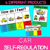 Self regulation Emotions: Daily Check In Poster, Desk Strip, gauge car