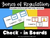 Zones of Regulation Check-In Board