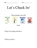 Zones of Regulation Check in Check out
