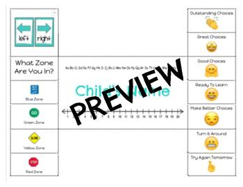 Zones of Regulation / Clip Chart Name Tag