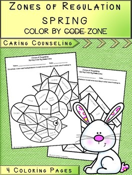 Zones of Regulation - Color By Code - Spring