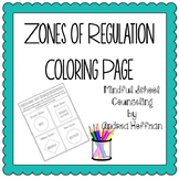 Zones of Regulation Coloring Page
