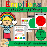 Zones of Regulation Emotions and Coping - Word Box Cutting