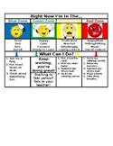 Zones of Regulation Desk Chart