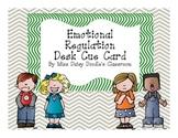 Emotional Regulation Desktop Cue Card
