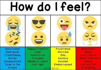 Emotion self Regulation: ZONES Daily Check In Emoji pack