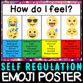 Emotion Self Regulation - Daily Check In Poster Emoji