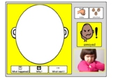 Emotion faces mats   with visuals and prompt questions KS1 PSHE