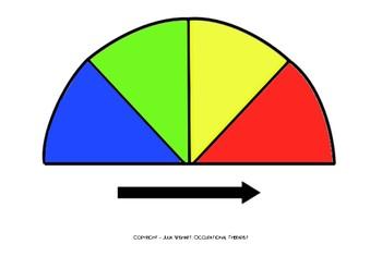 Zones of Regulation Gauge - Blank/Customisable