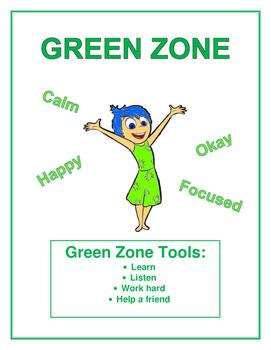 Zones of Regulation- Green Zone Poster