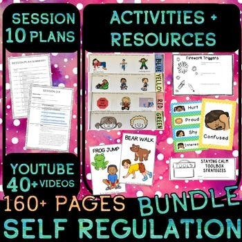 Zones of Regulation - self regulation HUGE 10 Session plan - Early Elementary