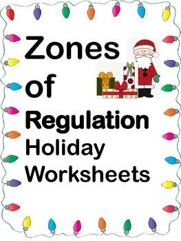 Zones of Regulation Holiday Worksheets