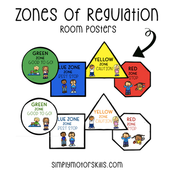 Zones of Regulation - Room Posters Complete Package