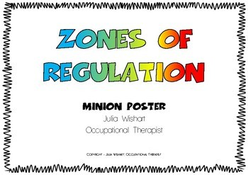 Zones of Regulation - Minion Poster