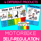 Self regulation Emotions: Daily Check In Poster, Desk Strip, gauge Motorbike