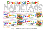 Zones of Regulation Nametags - Emotional Zones Check In -