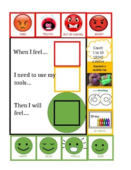 Zones of Regulation - One page tool
