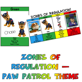 Zones of Regulation - Paw Patrol Bumper Pack
