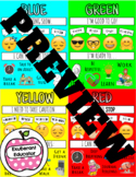 Zones Poster & Handout: Student Self Regulating Skills