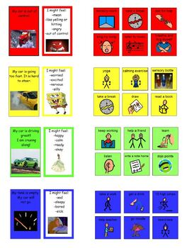 Zones of Regulation Processing Sheets