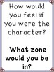 Zones of Regulation Questions to use for Reading