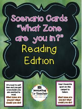 Zones of Regulation Scenario Cards - Reading Series