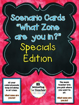 Zones of Regulation Scenario Cards - Specials Series